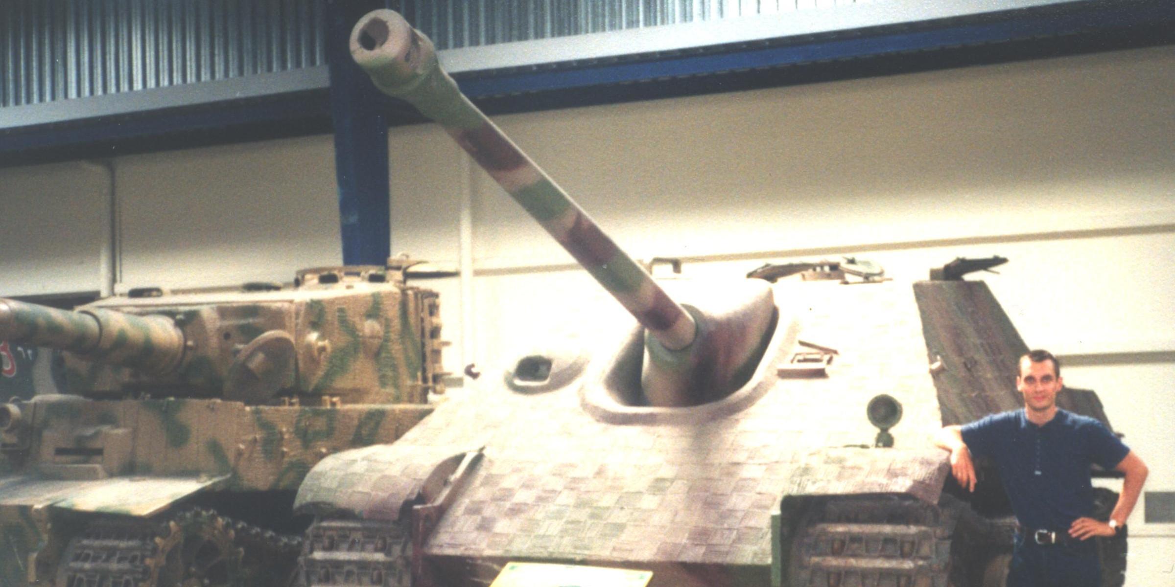 Piterpanzer w Muzeum Broni Pancernej w Saumur